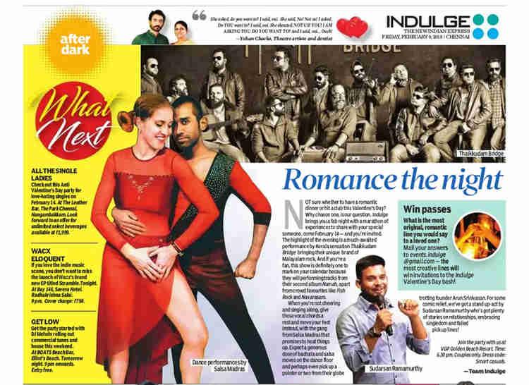 INDULGE Valentines Day Event Salsa Madras